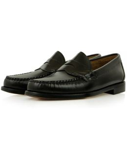 Logan Moc Leather Wine Loafer Shoes