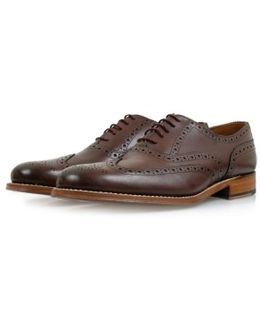 Dylan Burgundy Brogue Leather Shoes