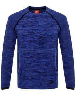 Tech Knit Crew Navy Ls T-shirt 728673
