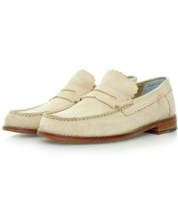 Ashley Beige Leather Shoes 110467