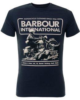 Hill Climb Navy T-shirt