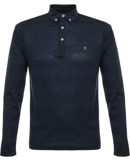 Stapleton Ls True Navy Polo Shirt