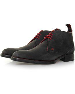Masuka Dexter Black Nubuck Boot