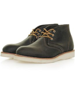 Classic Chukka Charcoal Leather Boot