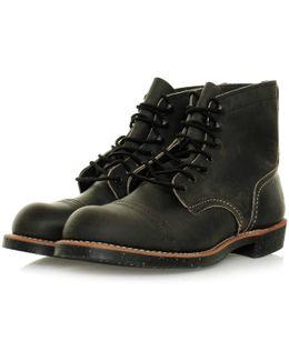 Iron Range 8116 Charcoal Leather Boots