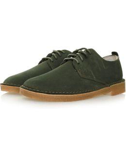 Desert London Loden Green Suede Shoe