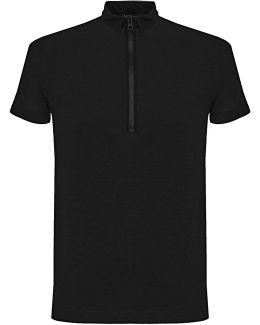 Zip Black Polo Shirt