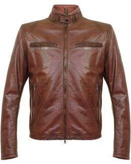 Osborne Burgundy Leather Jacket 113100