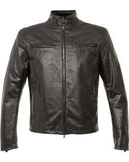 Osborne Antique Black Leather Jacket 113100