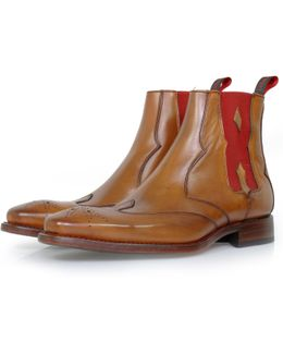 Coffin Hunger Mahogany Burnish Calf Leather Chelsea Boot