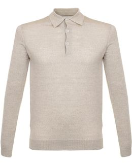 Maidwell Oat Meal Knit Polo Shirt