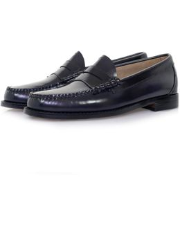 Bass Weejun Larson Navy Loafer Shoe