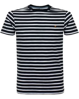 Lennox Ss Stripe White T-shirt
