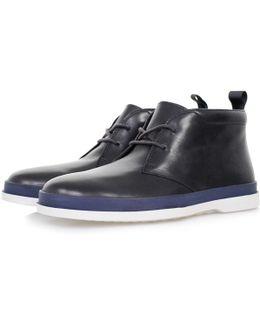 Paul Smith Inkie Dark Navy Milano Crust Leather Boots Ssxd-