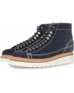 Andy Navy Suede Boots