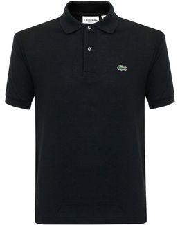 Classic Pique Black Polo Shirt