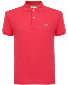 Classic Pique Pink Polo Shirt L1212