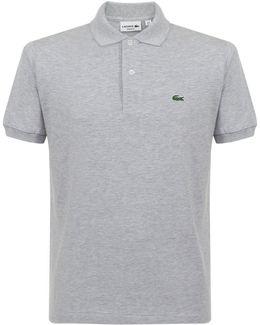 Pique Grey Polo Shirt L1264