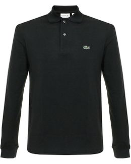 Pique Black Ls Polo Shirt