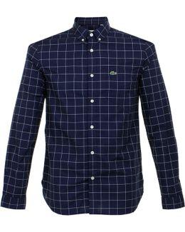 Check Navy Ls Shirt Ch3946 00