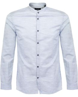 Winston Watermark Poplin Blue Shirt