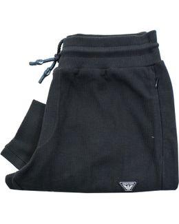Armani Pique Blue Sweatpants