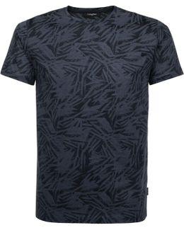 Jaster Merc Jersey Leave Print T-shirt