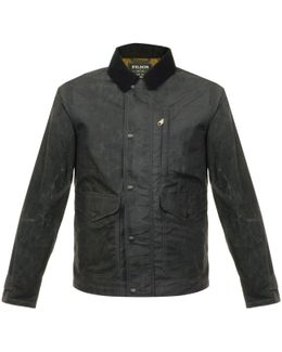 Short Mile Marker Black Waxed Jacket