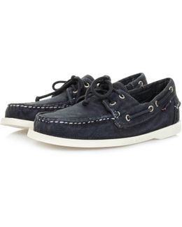 Docksides Navy Canvas Shoe
