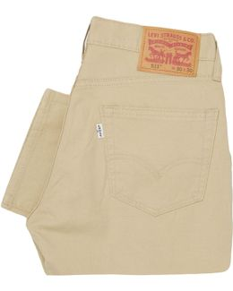 Levi's 511 Slim Fit Beige Chino Trousers