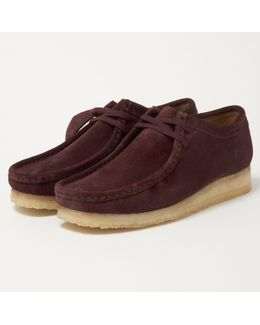 Wallabee Burgundy Suede Shoes