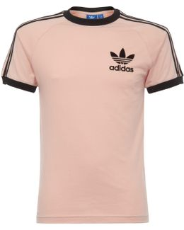 California T-shirt - Vapour Pink & Black