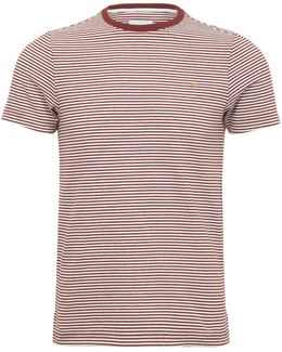 Vyner Yd Stripe Tee Red Brick