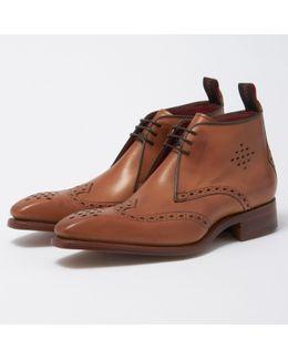 Cedar Brogue Punch Chukka Boot