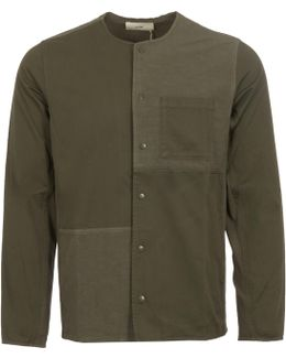 Green Combination Pop Stud Shirt