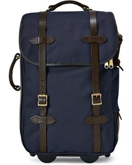 Navy Rolling Check Bag