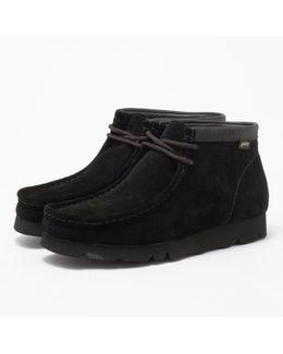 Black Gtx Suede Wallabee Boot