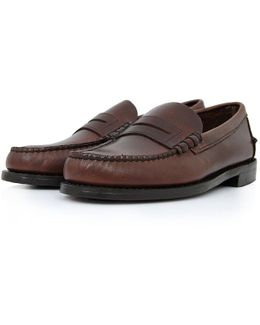 Classic Beef-roll Penny Moc Brown Shoes