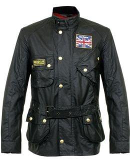 Barbour Union Jack International Black Jacket