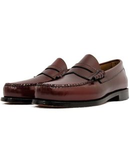 Bass Weejun Larkin Burgundy Loafer Shoe
