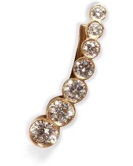 Gold/diamond Petite Croissant De Lune Earring