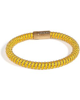 Gold-plated Twister Bracelet In Yellow