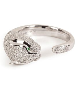 18kt White Gold Cougar Ring With Diamonds