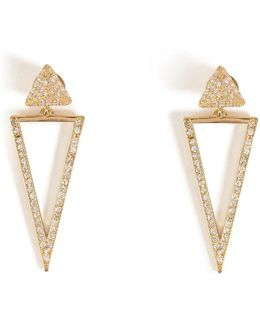 18kt Gold Bermuda Triangle Earrings With Diamonds