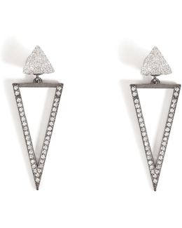 18kt White Gold Bermuda Triangle Earrings With Diamonds