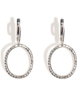 18kt White Gold Again Single Earrings With White Diamonds