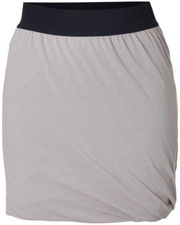 Cotton Twisted Drape Mini-skirt