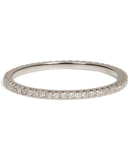 18k White Gold Pave Stacking Ring With Diamonds