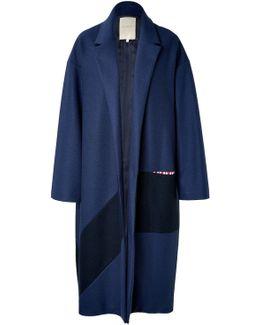 Larkin Wool Coat In Navy