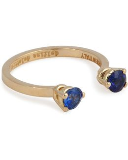 18kt Yellow Gold Ring With Sapphires